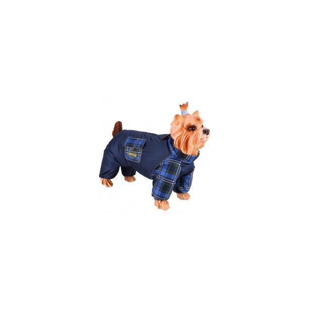 фото Комбинезон-дождевик для собак DEZZIE «Чихуахуа». Цвет: синий. Пол: кобель. Материал подкладки: нет