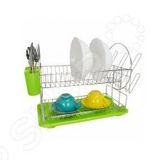 Сушилка для посуды Zeidan Z-1185Сушилки для посуды<br>Сушилка для посуды Zeidan Z-1185 один из самых нужных предметов на кухне. Сушилка изготовлена из прочной хромированной стали, которая не подвергается окислению. Очень удобно то, что сушилка имеет два уровня и может вместить достаточно большое количество посуды. При этом она эргономичная и не занимает много рабочего пространства. Поддон, в который стекает влага, выполнен из полипропилена, легко очищается и не сохраняет разводов от воды. В сушилке предусмотрена отдельная секция для размещения столовых приборов, а также несколько удобных держателей для стаканов. Уход за сушилкой потребует от хозяйки всего несколько минут, однако польза от нее очень велика.<br>