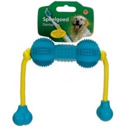 фото Игрушка для ухода за зубами собак Beeztees «Гантель шипованная на веревке»
