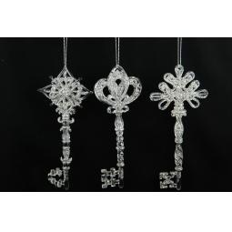 фото Елочное украшение Crystal Deco «Ключик» 1707594. В ассортименте