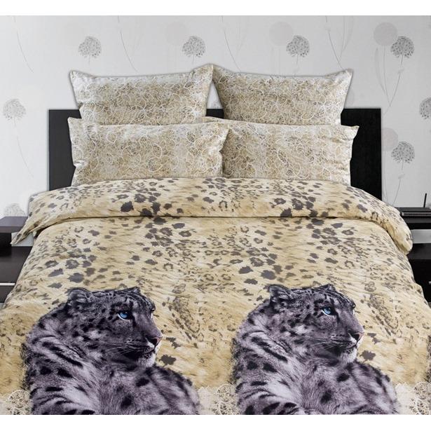 фото Комплект постельного белья Романтика «Снежный барс». Семейный