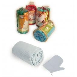 фото Комплект вафельный Банные штучки для мужчин. Цвет: белый