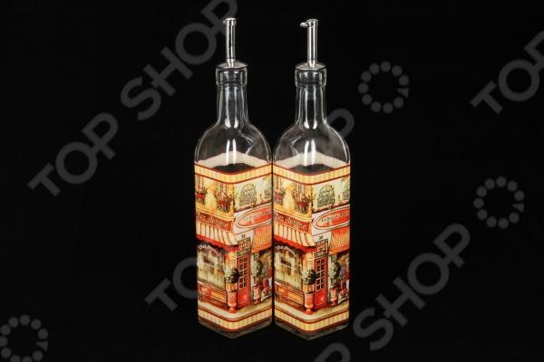 Набор емкостей для масла и уксуса Rosenberg 62517 состоит из двух вместительных элегантных емкостей, которые оснащены двумя специальными герметичными насадками для удобного наливания. Благодаря стильному и оригинальному дизайну набор станет прекрасным дополнением вашего кухонного интерьера, поэтому вы без стеснения сможете поставить на самое видное место. Емкость объемом 500 мл идеально пойдут для хранения масла и уксуса, а также других специй, например, соевого соуса. Набор выполнен из качественных материалов, поэтому можете быть уверенны, что на вкус содержимого ничего не повлияет.