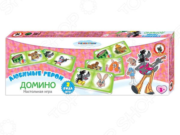 Домино детское Русский стиль «Ну, погоди!» pr08 1 5dp