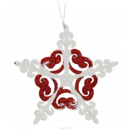 фото Украшение-подвес новогоднее Феникс-Презент 34981 «Снежинка»