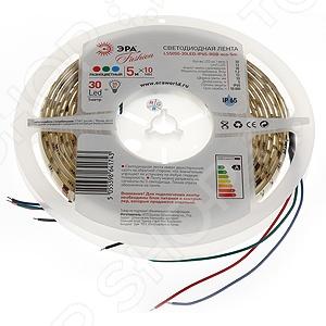 Лента светодиодная Эра LS5050-30LED-IP65-RGB-eco-5m