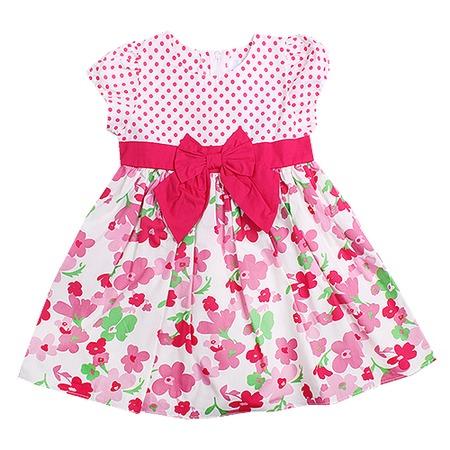 Купить Детское платье WWW Pink ribbon. Цвет: розовый