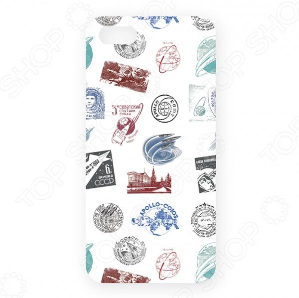 Чехол для iPhone 5 Mitya Veselkov «Штампики о космосе» mitya veselkov кошки в космосе чехол для apple iphone 5 5s
