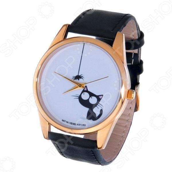 Часы наручные Mitya Veselkov «Кошка и паучок» Gold часы наручные mitya veselkov now gold