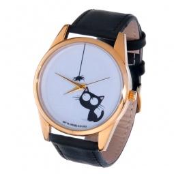 фото Часы наручные Mitya Veselkov «Кошка и паучок» Gold