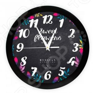 Часы настенные Вега П 1-6/6-299 «Цветы на черном» часы настенные вега п 1 6 6 7