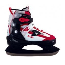 фото Коньки детские раздвижные хоккейные ATEMI TEMP черно-красные. Размер: 34-37