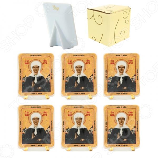 Набор декоративных тарелок Elan Gallery «Матрона Московская» набор декоративных элементов vintage line 6 шт 7707934