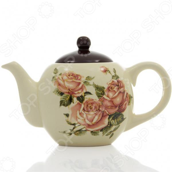 Чайник заварочный Loraine LR-21673Чайники заварочные<br>Чайник заварочный Loraine LR-21673 красивый и элегантный чайник, который идеально подойдет, как для ежедневного использования, так и для сервировки праздничного стола. Этот чайник станет настоящим открытием для истинных поклонников этого благородного напитка. С его помощью вы сможете полностью раскрыть вкус чая, позволив каждой чаинке отдать свой вкус, цвет и аромат. Изделие выполнено из высококачественной доломитовой керамики, которая способна стойко выдерживать высокие температуры. Корпус чайника украшен ярким цветочным рисунком, который надолго сохранит свои насыщенные цвета. Стильный дизайн изделия только дополнит ваш кухонный интерьер и привнесет в него немного весеннего и игривого настроения. Чайник вмещает 950 мл.<br>