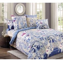 фото Комплект постельного белья Королевское Искушение «Нимфа». 2-спальный. Размер простыни: 220х195 см