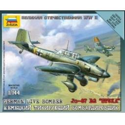 фото Сборная модель Звезда немецкий бомбардировщик Ju-87B2