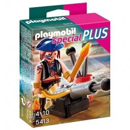 фото Набор фигурок к игровому конструктору Playmobil «Дополнение: Пират с пушкой»