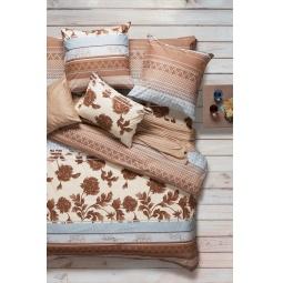 фото Комплект постельного белья Сова и Жаворонок Premium «Сандал». Евро. Размер наволочки: 70х70 см — 2 шт