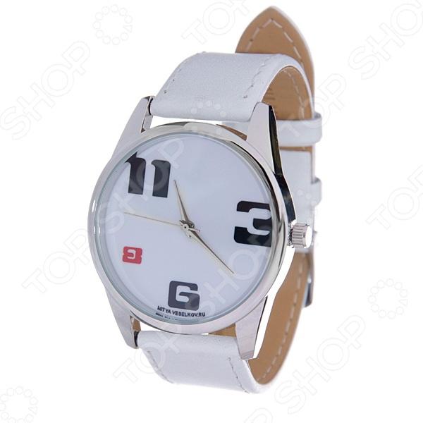 Часы наручные Mitya Veselkov «3-6-8-11» MV.White