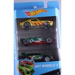 фото Набор машинок Mattel Hot Wheels PK5904. Цвет: желтый, зеленый