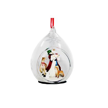 Купить Елочное украшение Crystal Deco «Санта с животными»