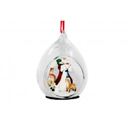 фото Елочное украшение Crystal Deco «Санта с животными»