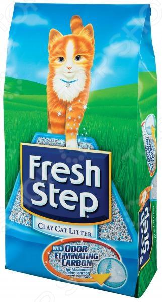 Наполнитель для кошачьего туалета Fresh Step «Тройной контроль запахов»