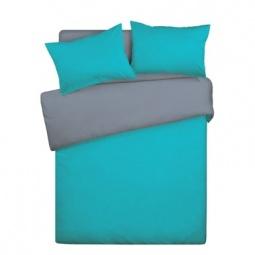 фото Комплект постельного белья Wenge Uno «КБВу-21». Цвет: серый, бирюзовый