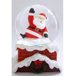 фото Декорация-шар музыкальная Star Trading 150304 «Санта на трубе»