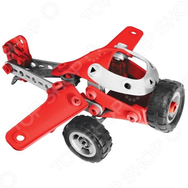 Конструктор игрушечный Meccano Легкомоторный самолет прекрасный подарок для юного конструктора! Игровой набор не только обучает и развлекает, но и помогает развивать мелкую моторику рук, логическое мышление и воображение ребенка. Комплект содержит детали и инструменты гаечный ключ и отвертка , с помощью которых можно собрать оригинальную модель для игры. Из этих деталей можно создать несколько видов транспорта. Все детали выполнены из нетоксичных полимерных материалов, поэтому полностью безопасны для ребенка.