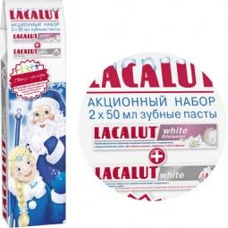 Купить Набор зубных паст Lacalut «White и White edelweiss»