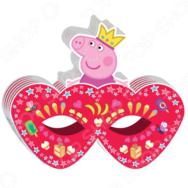 Полумаска детская Росмэн 28561 «Peppa Pig. Принцесса» книжка росмэн рисуем пальчиками красная peppa pig