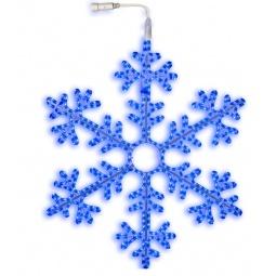 фото Подвес декоративный Star Trading Snowflake. Диаметр: 100 см. Цвет: голубой