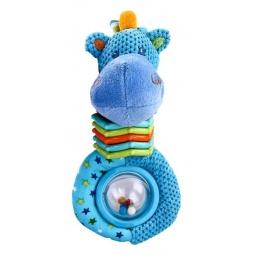 фото Игрушка-погремушка Жирафики «Бегемотик с ожерельем»