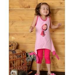 фото Майка для девочек Detiland SS14-CVV-GTP-440. Цвет: розовый. Рост: 104 см