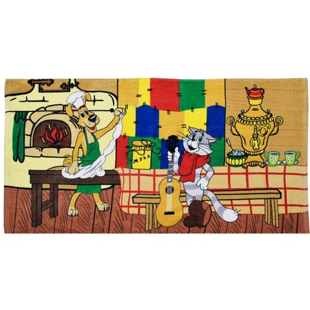 Купить Полотенце махровое Мульткарнавал «Трое из Простоквашино» 01300115889. В ассортименте