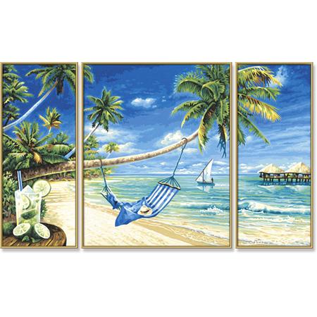 Купить Набор для рисования по номерам Schipper «Триптих. Южное море»