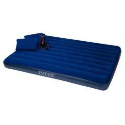 фото Матрас-кровать надувной с 2 подушками и ручным насосом Intex «Дауни»
