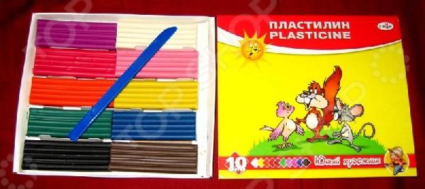 Набор пластилина Гамма «Юный художник»: 10 цветов