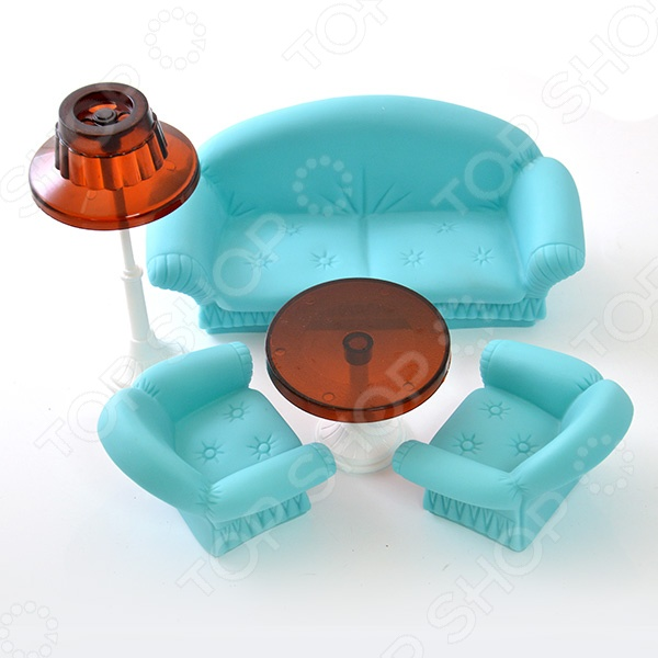 Мебель для куклы Огонек «Гостиная»
