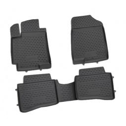 Комплект ковриков в салон автомобиля Novline-Autofamily Nissan Navara 2010 пикап. Цвет: черный - фото 4