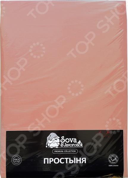 Простыня гладкокрашеная Сова и Жаворонок Premium