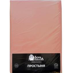 фото Простыня гладкокрашеная Сова и Жаворонок Premium. Цвет: голубой. Размер простыни: 195х220 см