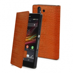 фото Чехол Muvit Slim Folio Croco для Sony Xperia Z