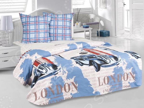 Комплект постельного белья Tete-a-Tete «Лондон». 1,5-спальный1,5-спальные<br>Комплект постельного белья Tete-a-Tete Лондон это постельное белье нового поколения , предназначенное для молодых и современных людей, желающих создать модный интерьер спальни и сделать быт более комфортным. Белье изготовлено из нежной бязи, что гарантирует здоровый и спокойный сон в любое время года, ведь этот материал обладает отличными дышащими , впитывающими и гигиеническими свойствами. При изготовлении постельного белья Tete-a-Tete используются устойчивые гипоаллергенные красители. Комплект постельного белья Tete-a-Tete Лондон очень легок в уходе. Вам не доставит хлопот его постирать, высушить и погладить. Белье не выцветает и не деформируется даже после 500 стирок. Плотность ткани составляет 140 г м2.<br>