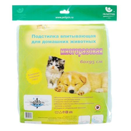 Купить Подстилка впитывающая для домашних животных Пелигрин многоразовая «Доброзверики»