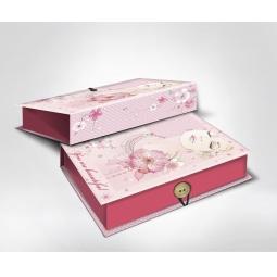 фото Шкатулка-коробка подарочная Феникс-Презент «Девушка». Размер: L (22х16 см). Высота: 7 см