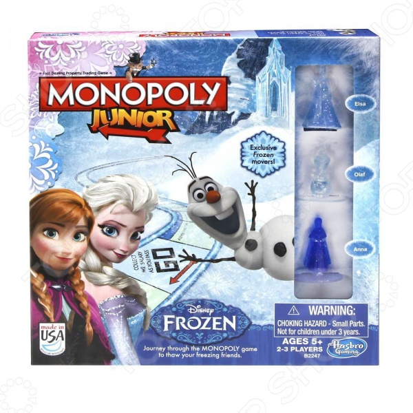 Настольная игра Hasbro JUNIOR «Монополия. Холодное сердце» настольные игры hasbro операция холодное сердце