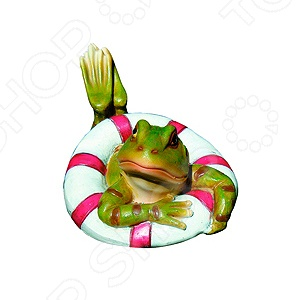 Фигурка садовая плавающая Green Apple GRWD1-17 «Лягушка»