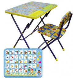 фото Набор мебели детский: стол и стул Ника «Азбука»
